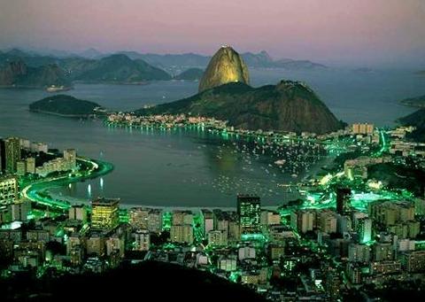 Brazil Rio De Janeiro City In The Evening