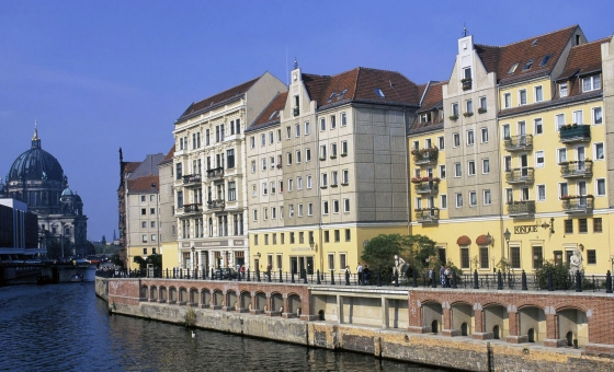 Germany River Spree And The Berlin Cathedral