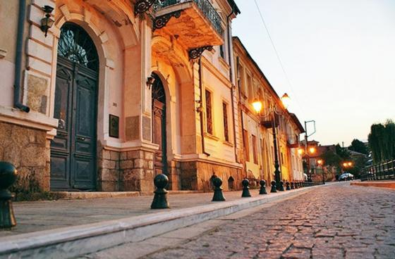 Greece A Cobble Strret In Florina