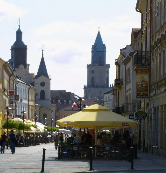 Poland The Central Pedestrian Street Of Lublin