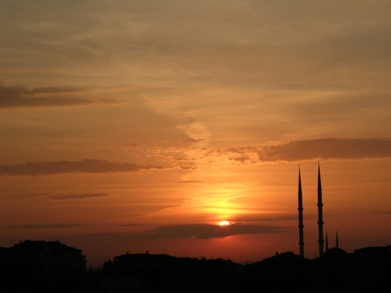 Turkey Fascinating Sunrise In Istanbul