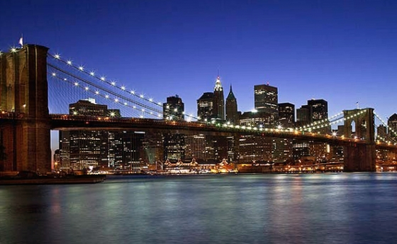 United States Night View Of New York City