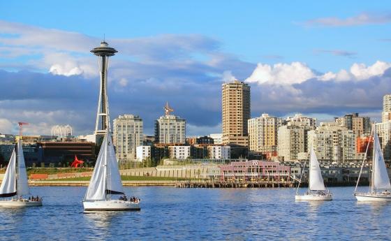 United States Seattle Pier Boat Washington